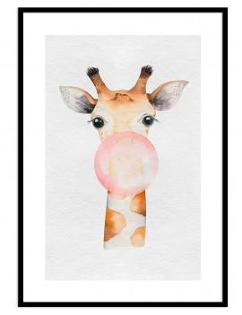 Cuadro jirafa globo...