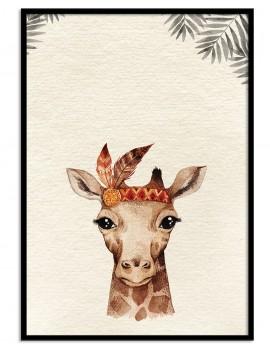 Cuadro infantil jirafa...