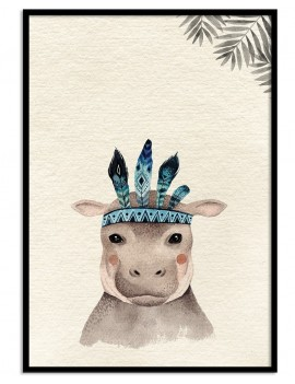 Cuadro infantil hipopótamo...