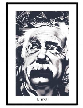 Cuadro personajes icónicos Albert Einstein