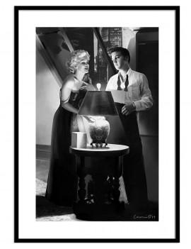 LAMINA ENMARCADA LICENCIA ELVIS & Marilyn Monroe .DOS PERSONAJES ICONICOS DE LA EPOCA QUE HARÁN LUCIR TU SALA.