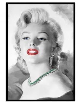 """LAMINA  ENMARCADA """"Marilyn..."""