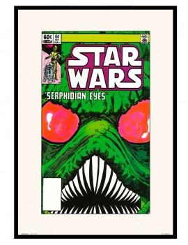 Lámina Enmarcada Star Wars licencia oficial , edición comic . portada de comic del año 1982.