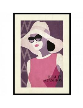 Lámina enmarcada edición Especial fashion elegance .fusión moda y decoración.