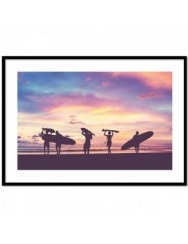 CUADRO TARDE DE SURF.Decora tu espacio con tu estilo de vida.