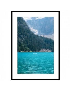 Cuadro Lago . Paisaje alpino.