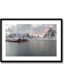 Cuadro Lago y Montaña