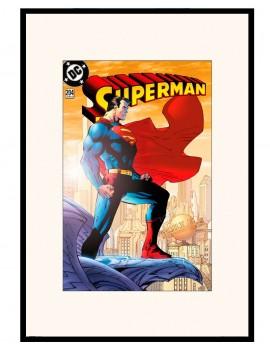 LAMINA ENMARCADA DE SUPERMAN Edicion Especial . año 2004