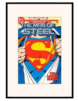 LAMINA ENMARCADA SUPERMAN LICENCIA EDICION ESPECIAL COMIC. THE MAN OF STEEL