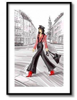 Cuadro Chica Fashion