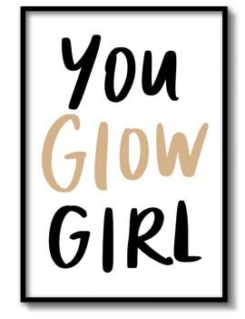 Cuadro You Glow Girl