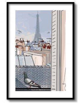 Cuadro Ilustración de Paris