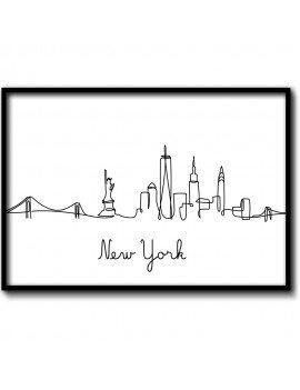 Cuadro Ilustración New York