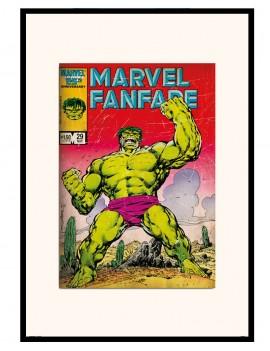Lamina enmarcada de Hulk...