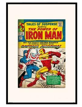 lámina enmarcada Iron Man...