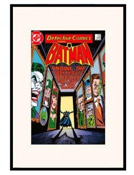 LAMINA ENMARCADA BATMAN EDICION ESPECIAL Comic . AÑO 1986