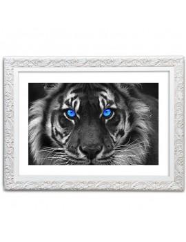 Cuadro Tigre en blanco y negro