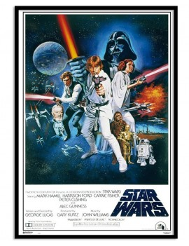"""Cuadro de cartel de película saga Star Wars """"Guerra de las Galaxias"""" tamaño poster 61x91,5cm licencia oficial"""