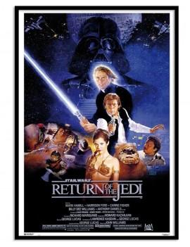 LAMINA ENMARCADA LICENCIA Star Wars ¨EL RETORNO DEL JEDI¨EPISODIO VI. ELECCION ESPECIAL PARA TU COLECCION.