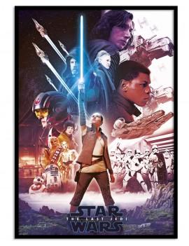 LAMINA ENMARCADA LICENCIA OFICIAL Star Wars EPISODIO VII. IMPRESCINDIBLE PARA COLECCIONAR.