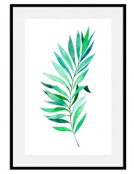 Cuadro botánica hoja color