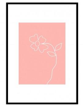 Cuadro botánica minimal flor