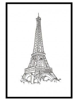 Cuadro Paris minimal