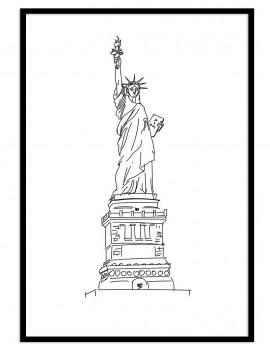 Cuadro New York minimal