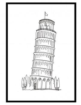 Cuadro Pisa minimal