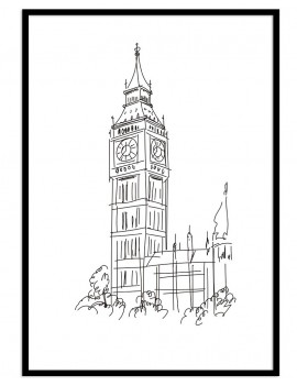 Cuadro London minimal