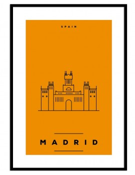 Cuadro Madrid color
