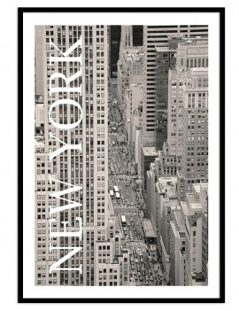 Cuadro lámina centro de Manhattan, New York. Downtown de la ciudad que nunca duerme.