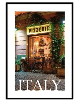 Cuadro con Lámina enmarcada DE PORTADA DE PIZZERIA ITALIANA.Italia
