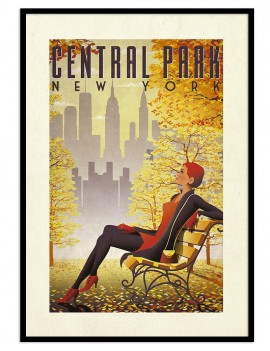 Cuadro retro Central Park....