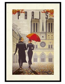 Cuadro retro Paris.(CIUDAD...