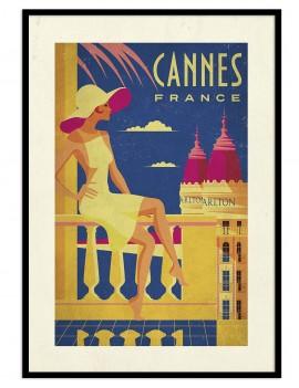 Cuadro retro Cannes, la...