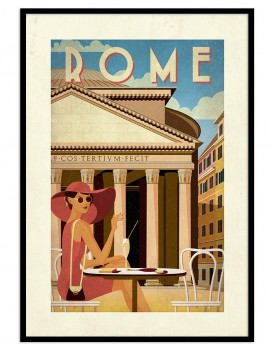 Cuadro retro Roma. Una de...