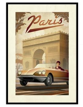 Cuadro retro Paris. Imagen...