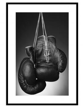 Cuadro fotografía guantes de Boxeo vintage.