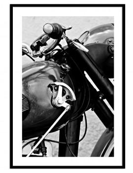 Cuadro fotografía moto retro