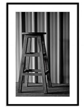 Cuadro fotografía taburete